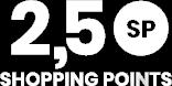 2,5 Shoppinh Points